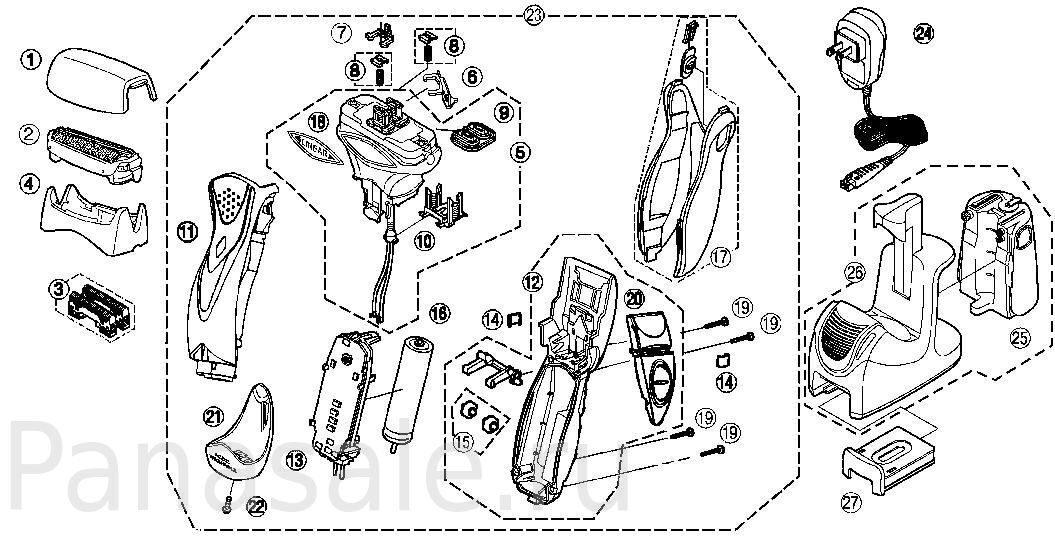 детали на схеме и модель