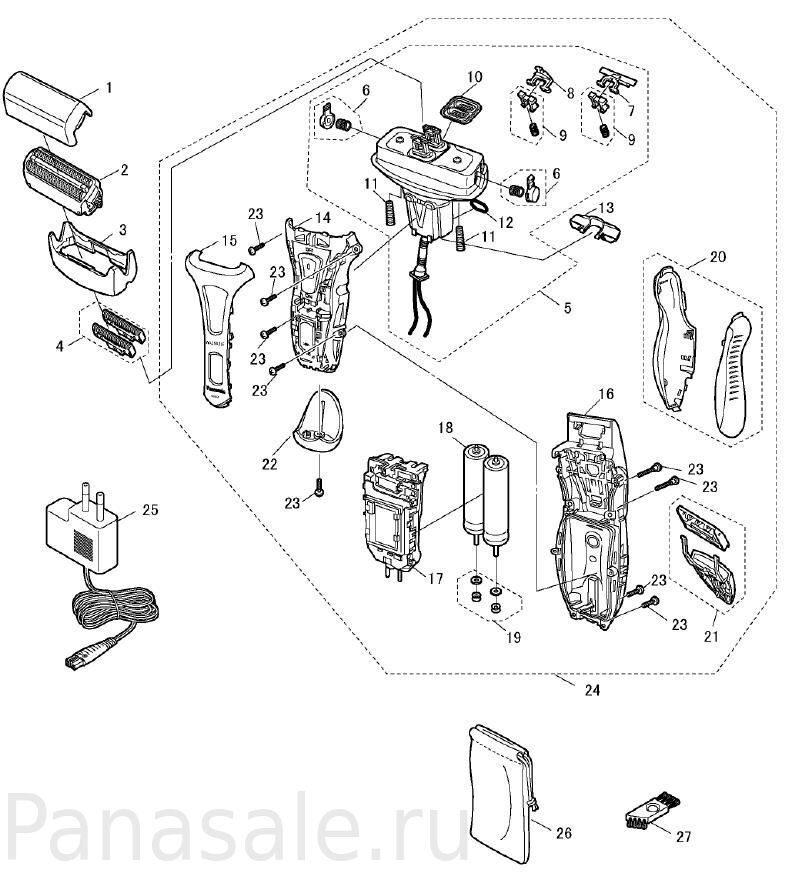 Panasonic модели ES-RT51