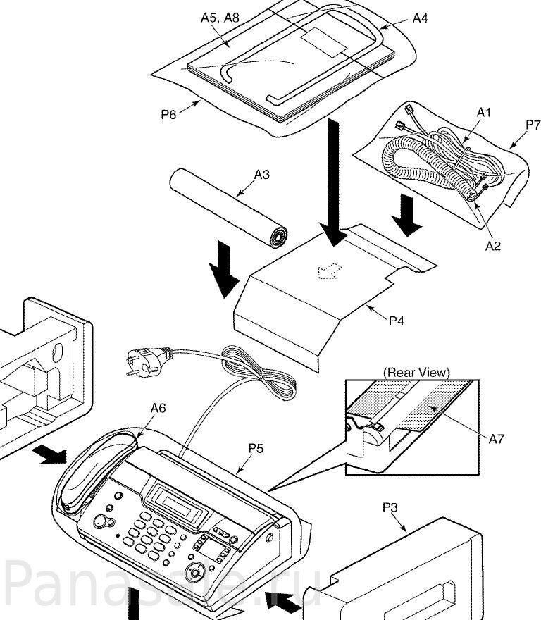 KX-FT938RU факс схема4