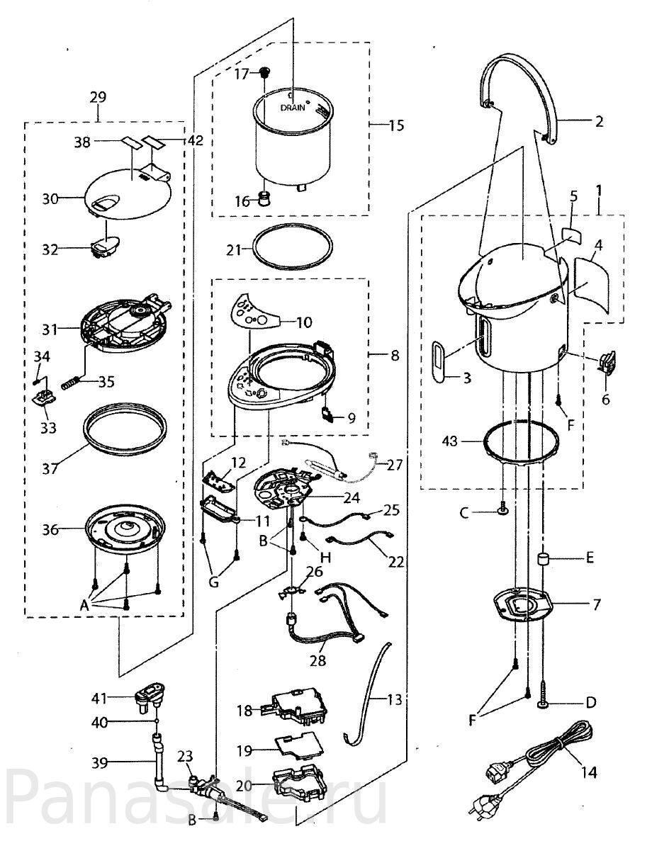 Схема термопот nc-em30p