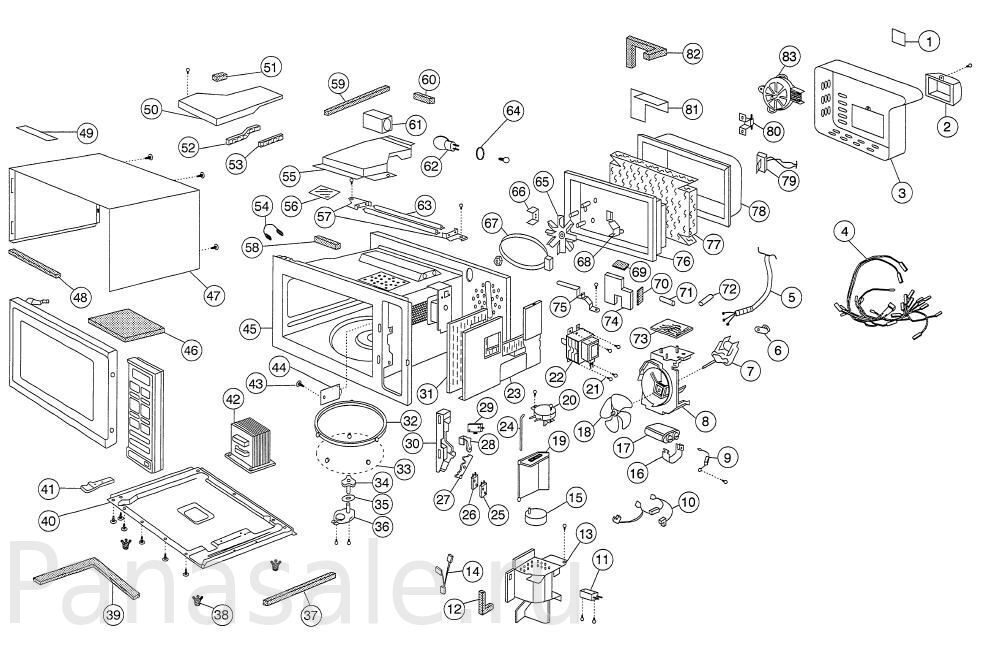 NN-B756B микроволновка схема2