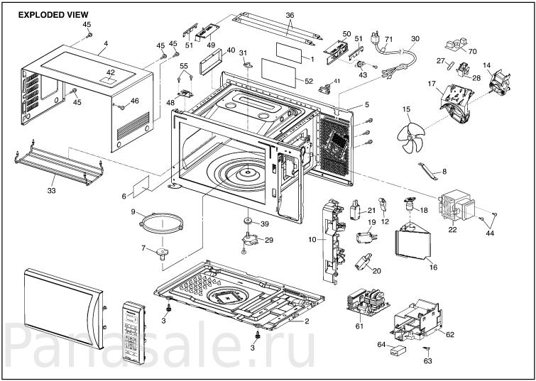 NN-GT370M микроволновка схема1