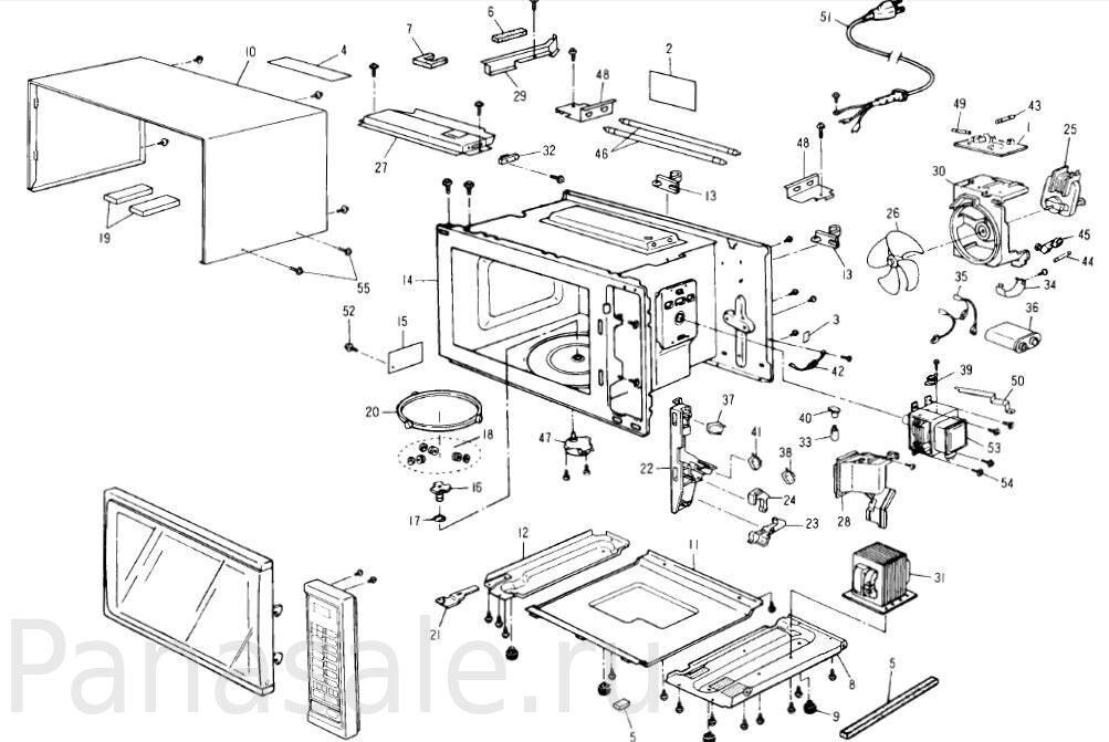 NN-K652 микроволновка схема1